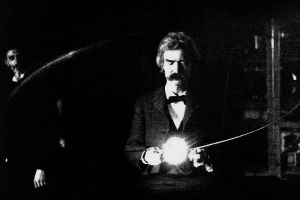 Twain in Tesla's Lab
