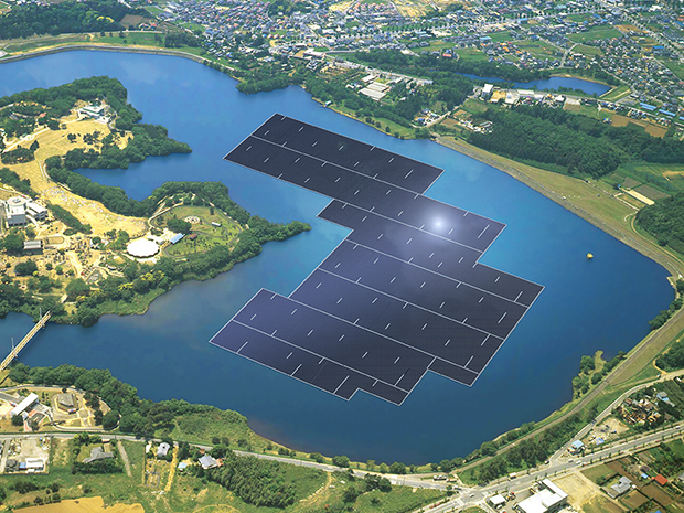 Solar Array on Reservoir Japan MjcxMzAwOQ